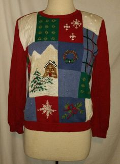 NWT Mens Ugly Christmas Sweater Vest or Fourth of July Flag