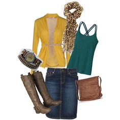 """""""Mustard and teal"""""""