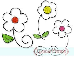Free Embroidery Designs - Free Quick Stitch Flower Set 4x4 - Welcome to Lynnie Pinnie.com! Instant download and free applique machine embroidery designs in PES, HUS, JEF, DST, EXP, VIP, XXX AND ART formats.