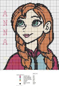 Anna Frozen perler bead pattern - 7 à la maison