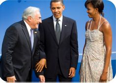 President Obama 'chattering with his fingertips' with Dominique Strauss Kahn.