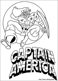 The Captain America Who Was Jumping Very High Coloring For Kids