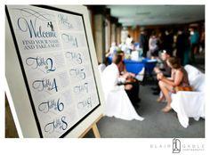 Real Wedding | Seating Chart   ©BlairGablePhotography  #wishtreeinvites