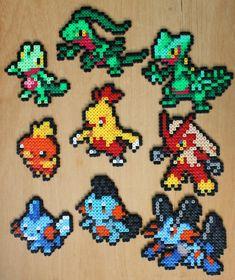Pokemon Bead Sprite - Generation Three Starter Set Hama Perler