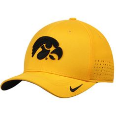 Men s Nike Gold Iowa Hawkeyes Sideline Vapor Coaches Performance Flex Hat 7a4c112cb892