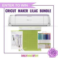 Win a Lilac Cricut Maker Bundle Valued at $449