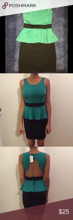 Beautiful Dress Fun night out dress. In black and green. mandee Dresses Mini