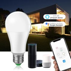 Smart Led Bulb - control light bulb by smartphone using wifi connection Amazon Shows, Google Home Assistant, Light Of Life, Home Gadgets, Works With Alexa, Led Technology, Save Energy, Wifi, Light Bulb
