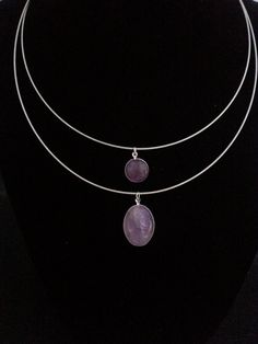 Amethyst Drops Necklace by BJDevine on Etsy