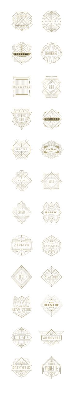 Art Deco Badges on Behance