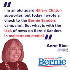 BREAKING: @AnneRiceAuthor supports @BernieSanders   Thank her on FB: https://www.facebook.com/annericefanpage/posts/10153701473200452 …  #FeelTheBern