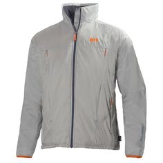 the men's helly hansen h2 flow sailing jacket in grey