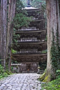 The Five Story Pagoda, Mount Haguro, Yamagata, Japan༺ ♠ ༻*ŦƶȠ*༺ ♠ ༻