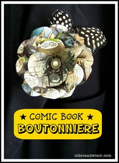 DIY Comic Book Boutonniere {Batman goes to Prom} ,,,, not for me but I know someone who would love this!