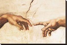 "renaissance-art: "" Michelangelo c. Creation of Adam Scene 4 of 9 from the book of Genesis "" Renaissance Kunst, Renaissance Paintings, Famous Renaissance Art, Religious Paintings, Religious Art, Sistine Chapel Ceiling, The Creation Of Adam, Wow Art, Art Plastique"
