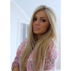 blonde hair brown eyes