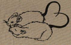rat print - would make great tattoo (saturn & jupiter perhaps? Kritzelei Tattoo, Poke Tattoo, Piercing Tattoo, Pretty Tattoos, Grafik Design, Future Tattoos, Rats, Tattoo Inspiration, Small Tattoos