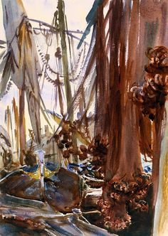"""Venetian Fishing Boats"", c.1904, John Singer Sargent."