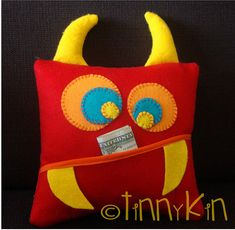 Toothfairy pillow for boys - Loosing a tooth is a very special thing for every growing kid. This pillow will make it even more special .