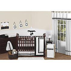 Sweet Jojo Designs Hotel 9-piece Crib Bedding Set in Black