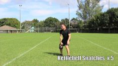 Here's a powerful single kettlebell workout. This is a kettlebell complex with a 24kg kettle bell, performing 5 of the kettlebell fundamentals, 5 each side: swing, snatch, clean, squat, press.