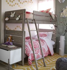 View the bunk beds girls bedroom theme at The Land of Nod to find design ideas and inspiration for a room she'll love. Browse girls bedroom ideas.