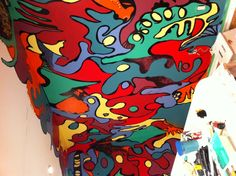 Details Doodle Wall, My Doodle, Wall Murals, Doodles, Painting, Painting Art, Scribble, Paintings, Paint