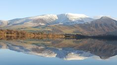 Skiddaw with dusting of snow. Lake District, UK.