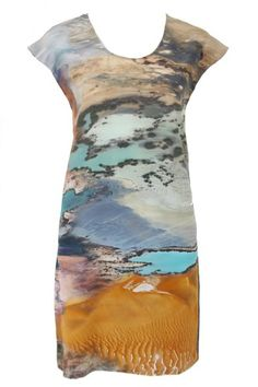 #colourdreamery - Australian Aerial Print Shift Dress by Sara Phillips   http://www.the-dreamery.com/Wardrobe/Day-Dresses/Aerial-Print-Shift-Dress