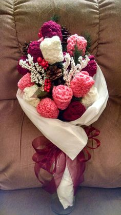 Hey, I found this really awesome Etsy listing at https://www.etsy.com/listing/215511261/crocheted-bouquet-of-roses