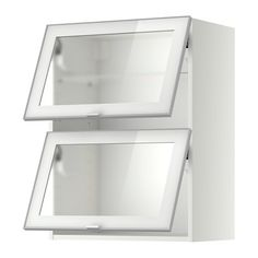METOD Wall cab horizontal w 2 glass doors IKEA Door lift with catch for gentle closing included. Sturdy frame construction, 18 mm thick.