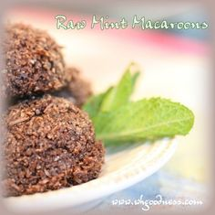 Spring is here, and the mint in my garden is happy and abundant! It inspired me to make mint macaroons. You can make these with or without cocoa. The two versions with the same procedures are to. Spring Is Here, Macaroons, Real Food Recipes, Cocoa, Almond, Paleo, Mint, Canning, Chocolate