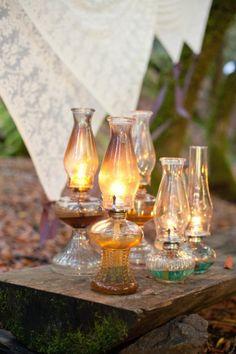 Vintage Gas Lamp Wedding Decor | Sonya Yruel Photography | See More! http://heyweddinglady.com/harvest-gold-wedding-inspiration-in-rich-autumn-hues/