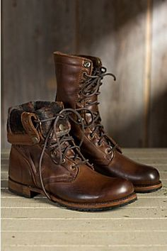 Overland Men's Walk-Over Ian Fold-Over Leather Jump Boots