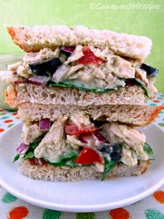 Chicken Salad with Avocado Dressing  by Cinnamon Spice and Everything Nice