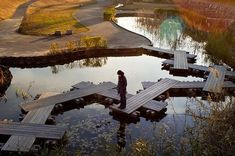 landscape-a-design:  Landscape Architects Network Water-crossing . Anjo, Japan