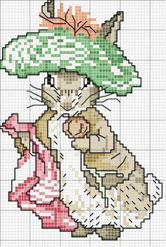 Schematic cross stitch Orsetta