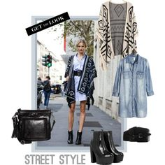"""Get the look-Street style"" by diseneitorforever on Polyvore"