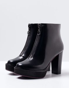 Bershka Turkey -Bershka platform boots with heels
