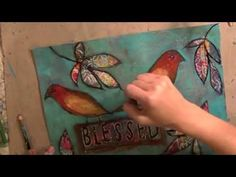 """""""Blessed"""" mixed media painting in fast forward mode - YouTube"""