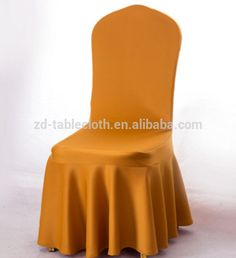 Wedding decoration pleated skirt gold spandex chair cover