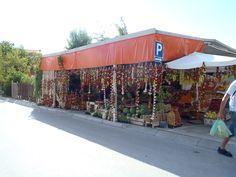 lokale groeten en fruit winkel ergens in Kroatië