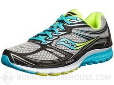 Saucony Guide 9 Women's Shoes Grey/Blue/Citron Size 7B