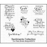"""Sentiments Collection from ODBD - Image sizes approximately: May you...1 1/2"""" x 2 1/8"""", Count your...1 5/8"""" x 1 1/4"""", You bless me!...1 5/8"""" x 1/2"""", Walk in...1 1/8"""" x 1"""", You make...1 3/8"""" x 1 1/2"""", Friends...1 5/8"""" x 1 1/4"""", A little...1 5/8"""" x 1 1/4"""", May God's...2 1/4"""" x 5/8"""""""