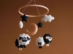 Hey, I found this really awesome Etsy listing at https://www.etsy.com/listing/469294689/sheep-baby-mobile-girl-black-and-white