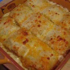 CHICKEN ALFREDO LASAGNA ROLLS Recipe | Just A Pinch Recipes