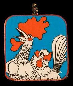 Rooster Pot Holder. $14.00, via Etsy.