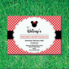 Minnie Mouse Custom Printable Invitation -- Birthday Party or Baby Shower --. $12.00, via Etsy.