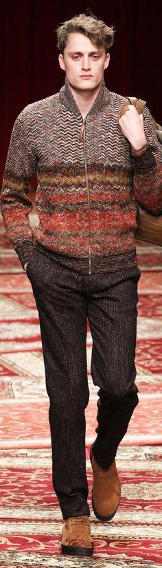 Missoni Menswear Fall-Winter 2015-16 | Men's Fashion & Style | Moda Masculina | Shop at designerclothingfans.com