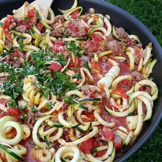 Skillet Zoodle Lasagna from cleanfoodcrush on IG.